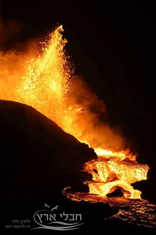 התפרצות של הר הגעש פאגראדלספיאטל